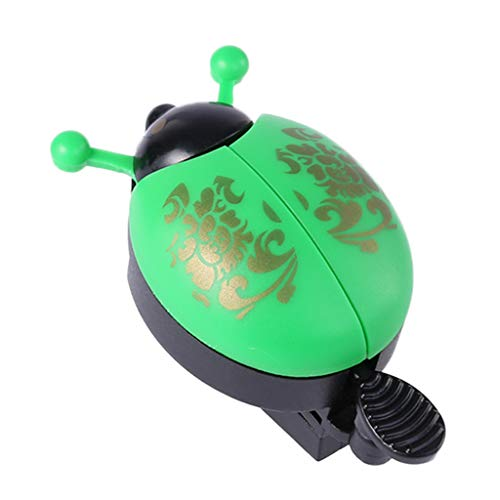Bingxue Anillo de campana de bicicleta de aleación de aluminio, campana de escarabajo de dibujos animados, campana de mariquita para niños, bocina de bicicleta, alarma, scooter, accesorios de ciclismo