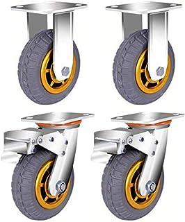 Zware zwenkwielen hoog-elastische stille rubberen wielen laadlager tot 800KG gebruikt in fabrieken magazijnen en transport...