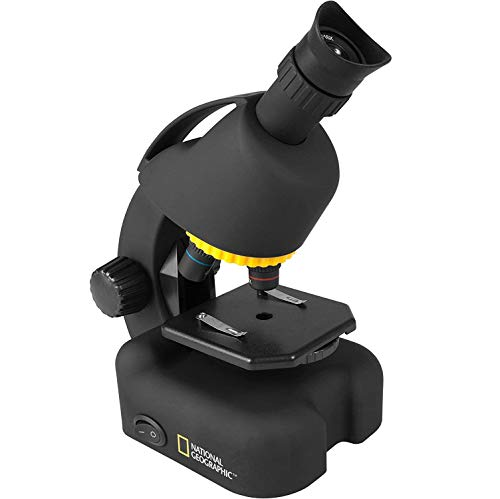 TOYSBBS National Geographic Intermediate Compound Microscope for Kids – Battery Powered 40X-640X Zoom Microscope Including Science Kit - LED Illumination & USB Eyepiece Directly Connects to Computer