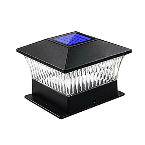 Solar-LED-Nachlicht, LED-Solar-Pfosten-Kappe-Lampe, Solarsäule-Licht mit Lichtsensor, IP65 Wasserdichte Villa-Beteiligte Solar-Säulen-Lampe Landschaftslampe für Zaunpfosten Deck, Weißes Licht
