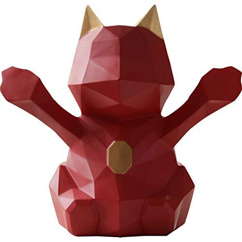 Allshiny Adorno Geometría nórdica alcancía Gato Afortunado Adulto Hucha Grande decoración Creativa niños Lindos Moneda Hucha (Size : S)
