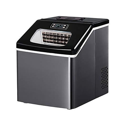Eiswürfelmaschine, Hochwertige Kleine Kommerzielle Eiswürfel Haushalt Eismaschine Teemilch Shop Automatischer Wassereinlass Ein-Knopf Automatische Reinigung Eiswürfelbereiter,Automatically add water