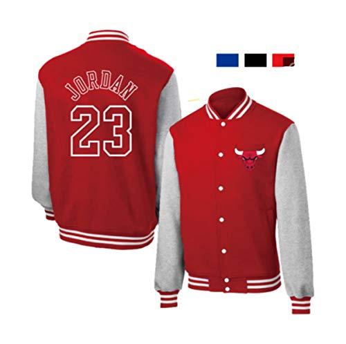 Toros 23# Jordan béisbol Uniforme de la Chaqueta con Capucha de la Capa del suéter de algodón 3 Colores,Rojo,L