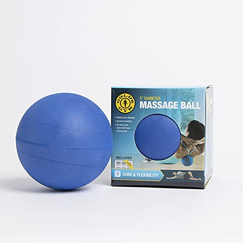 """Blue Gold's Gym 5"""" Massage Balls For Trigger Point / Deep Tissue Therapy - Massages To Relieve Tired, Sore Muscle Knots."""