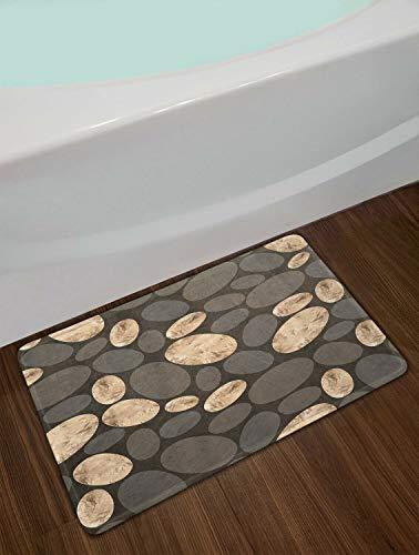 Cuadro Abstracto geometría Ovalada La Puerta deentradadelaalfombra delbañoesantideslizante y fácil de Limpiar, 40X60cm,imprescindible para Uso doméstico.