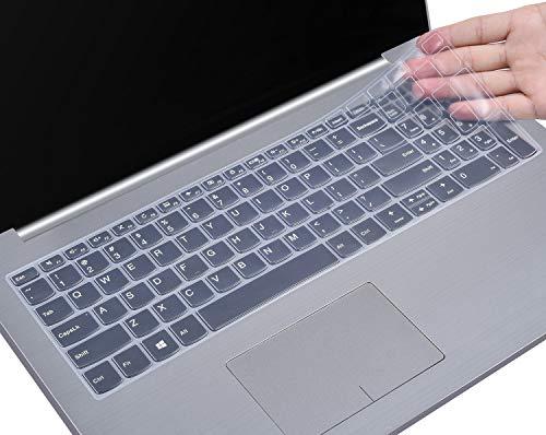HülleBuy Tastaturschutz für Lenovo IdeaPad 320/330/330s 39,6 cm (15,6 Zoll), IdeaPad 320/330 17,3 Zoll, IdeaPad 520 15,6 Zoll Laptop, ultradünn, Staubschutz farblos