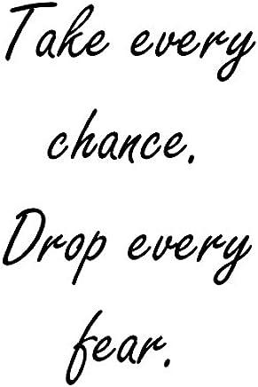 "Heartfelt Inspirations By Moana SS-HI-10044""Take Every Chance. Drop."" Paper Wall Prints"