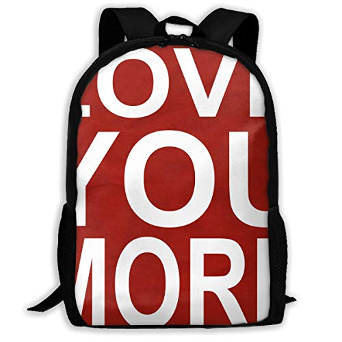 Backpack I Love You More Zipper School Bookbag Daypack Travel Rucksack Gym Bag For Man Women