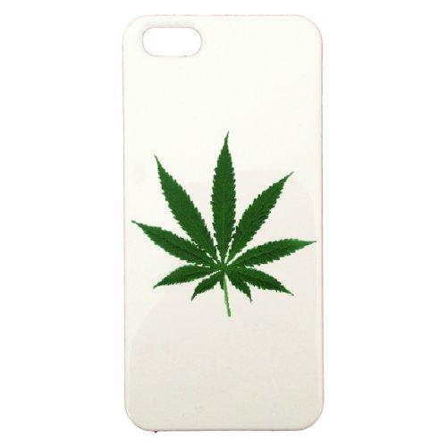 GANJA - Cover in plastica personalizzabile per Apple iPhone 5, colore: Bianco