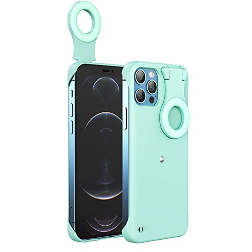OFOCASE Selfie Fill Light Ring Light Phone Case for iPhone 12 Pro MAX, 3 Lighting Modes Selfie Light up Protective Case, USB LED Ring Light Silicone Case for Youtube Live Streaming Vlogs Makeup Photo