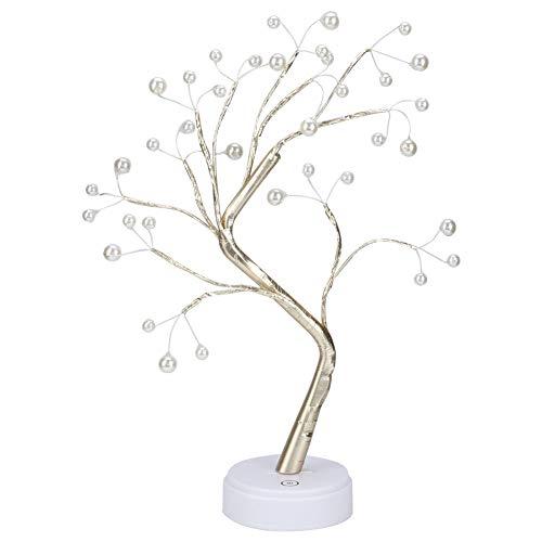 Weikeya Luz LED para árbol, Resistente al Agua, Hecha para PC, Compatible con Regalos para Fiestas y dormitorios (cálida)