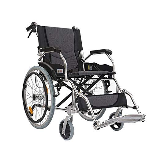 Leggero pieghevole Assistente di volo controllato Leggero viaggio for sedia a rotelle pieghevole Piccolo volume rimovibile pieghevole in alluminio Pedane sé può Loading 160kg (100 * 62 * 87 centimetri