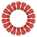 100pcs Peg Hook Locks Stop Lock, blocco di sicurezza in plastica rossa, installazione facile, per collegamento merci, ganci per supermercato, display antifurto per negozio al dettaglio(7MM)
