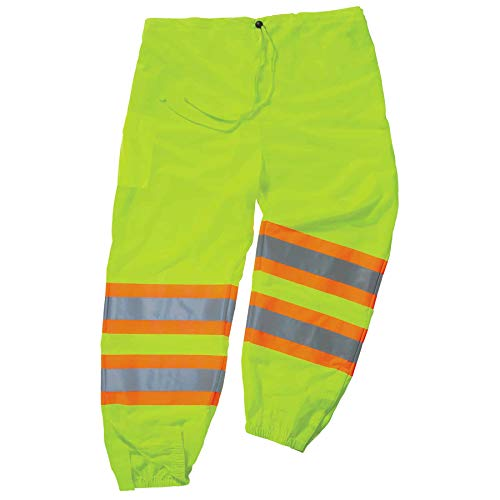 Ergodyne GloWear 8911 ANSI Two-Tone High Visibility Lime Reflective Safety Pants, Large/ X-Large