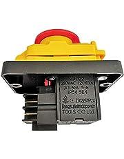 Interruptor de botón electromagnético KJD22 4 pines 6 pines interruptor eléctrico con cubierta de apagado de emergencia