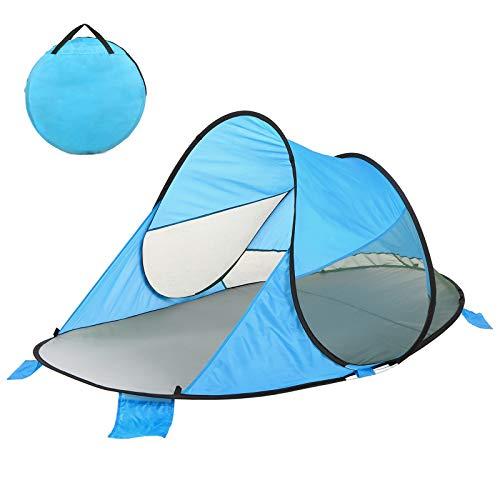 Ajcoflt UPF 60+ Easy Pop Up Beach Shelter Carpa de Playa Paraguas Deportivo Carpa de Refugio instantáneo Sun Shade Toldo para bebés