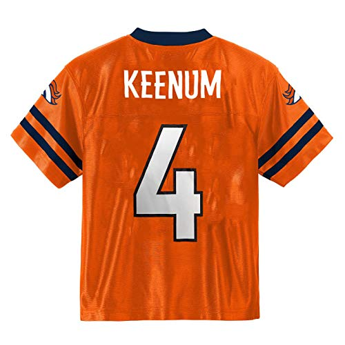 Case Keenum Broncos Orange #4 Youth Home Player Jersey (Small 6/7)