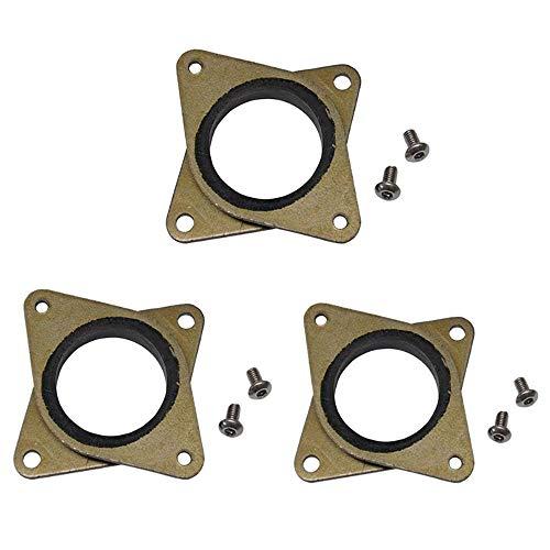 NEMA 17 Lot de 3 amortisseurs de vibrations en acier et caoutchouc avec vis M3 pour imprimante 3D Creality, CR-10 et 10S et CNC