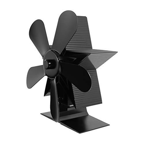 PFDJ2 Kamin Ventilator Kamin Holzofen oder Pelletofen effektiv Dispergierwerkzeuge Warmluft in Ihrem Wohnzimmer Elektroherd Fan S12.4 (Color : Black)