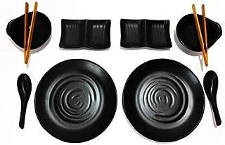 TomYang BBQ & Hot Pot - servies set voor 2 personen. Perfect voor de nieuwe tafelgrill/elektrische grill en Asia Fondue. E...