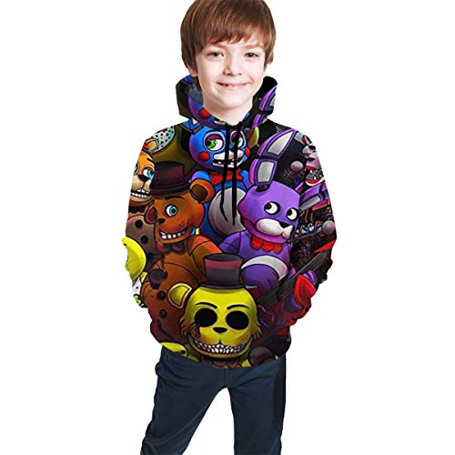 dgfgad Kapuzenpulli Kids Hoodie Fn-af Game Poster Youth Sweatshirts Pockets Pullover Clothes Hooded for Boys Girls