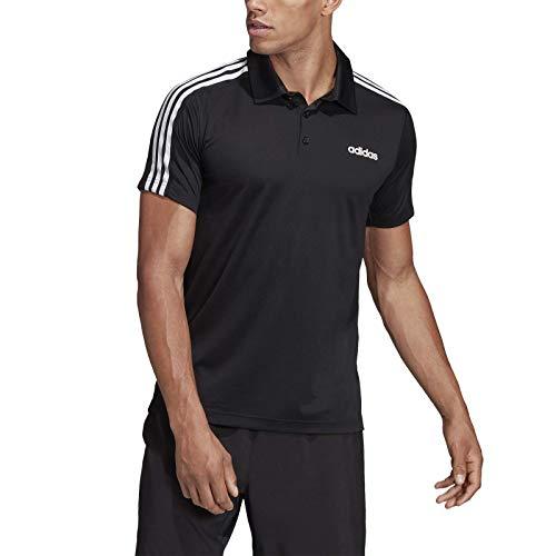 adidas Herren DESIGN2MOVE 3S Polo T-Shirt, core Black/Gum 3, XL