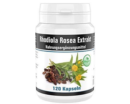 Rhodiola rosea (Rosenwurz) - 4 Monate Vorrat • Hochdosiert: 5,27{7c17223ddade3c036477b3854ae6f6d10662d39d1c2922db3b76087e59cb48bd} Rosavine (15,81 mg) zu 2,36{7c17223ddade3c036477b3854ae6f6d10662d39d1c2922db3b76087e59cb48bd} Salidroside (7,08 mg) • ohne unnötige Zusätze • 120 Extrakt Kapseln
