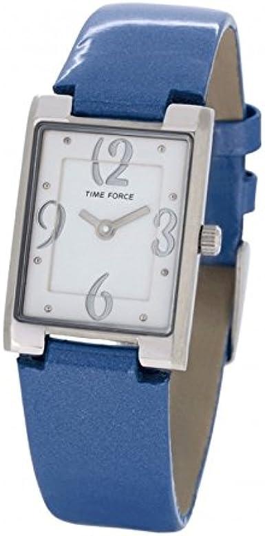 TIME FORCE Reloj Analógico para Mujer de Cuarzo con Correa en Cuero TF4066L03