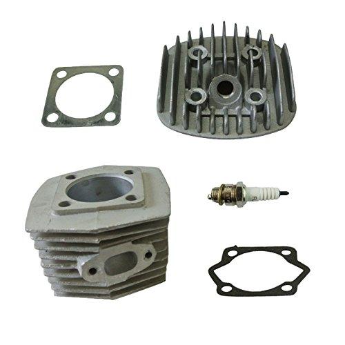 jrl 47mm cilindro cabeza Set y Kit de pistón y Bujía Para Motor de 80cc motorizada bicicleta bicicleta partes