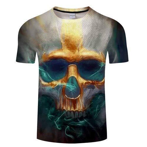 T Shirt 3D T Shirt Hommes Crâne Tshirt Imprimer T-Shirt D'été Tops Casual Tees Shortsleeve Streetwear 4XL Tx494