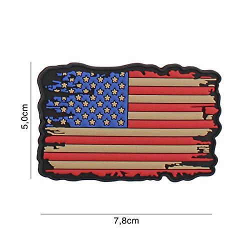 VAN OS Emblem 3D Rubber Patch USA Vintage Flagge 5 x 7,8 cm Klett Abzeichen USA