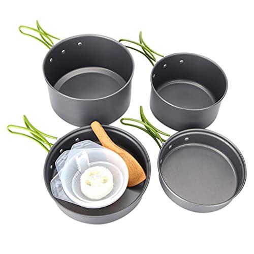 BESPORTBLE 1 Juego de Cocina Al Aire Libre Juego de Vajilla para Acampar Conjunto de Sartenes Portátiles para Freír