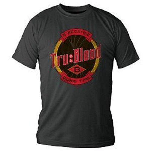 True Blood Blood T-shirt avec logo Orange Taille M