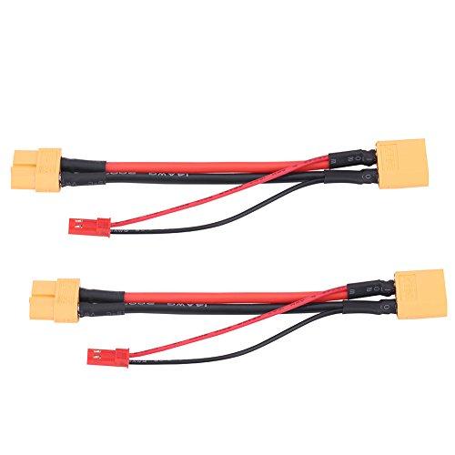 Dilwe 2 Stücke XT60 Buchse auf 14 AWG XT60 Stecker und 22 AWG JST Stecker Adapter Kabel RC Zubehör