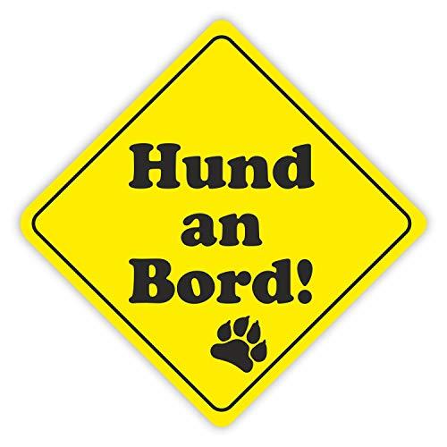 iSecur Auto-Aufkleber Hund an Bord I 11 cm hoch I Hundeaufkleber I Sticker für Hunde-Besitzer I wetterfest I kfz_319
