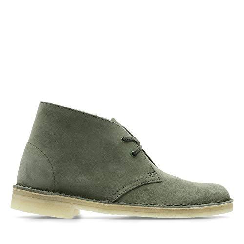 Clarks Originals Damen Boot-26138225 Desert Boots, Grün (Olive Suede), 38 EU