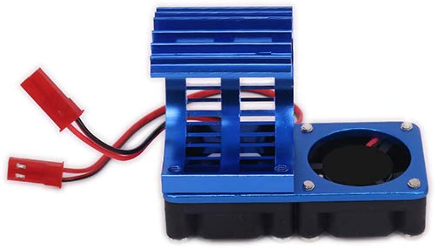 540 545 550 Motor Heat Sink Heatsink with Twin Fan Cooling Side Vent JST for 1 10 RC Car   Boat HSP HPI Wltoys Himoto Tamiya   Dark bluee