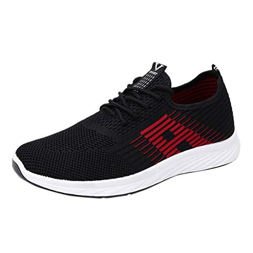 Haforever Men's Running Shoes, Lightweight Casual Sneakers Workout Sport Athletic Shoes for Training Tennis Jogging Footwear Red