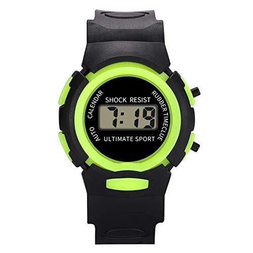SFBBBO Reloj niño Reloj para niños Reloj Deportivo Digital LED a Prueba de Agua para niños Reloj de Pulsera multifunción Relojes para niños B