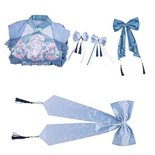 Bycloth Lolita Vestido Chino Hanfu Sweet Lolita Mujeres Cosplay Falda Chicas Ropa Kawaii con Decoracin de Arco,L