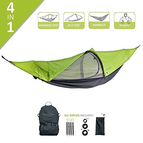 Flying Tent hangmatten & veldbedden Flying Tent grashopper - groen