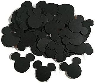 Mickey Mouse Head Shape Die Cuts - Black (100)