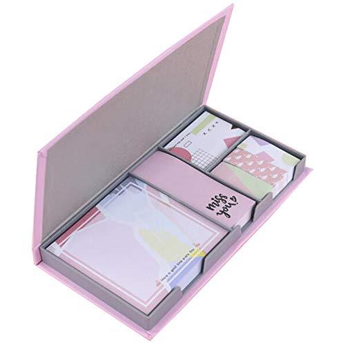 MinniLove 付箋 480枚入 セット 付箋 ふせん かわいい メッセージカード 強粘着ノート 超徳用 (ピンク-6種類X80枚入)