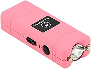 VIPERTEK VTS-881 - 35 Billion Micro Stun Gun - Rechargeable with LED Flashlight, Pink