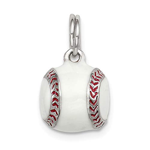 925 Sterling Silver 3d Enamel Baseball Pendant Charm Necklace Sport Baseball/softball Man Fine Jewelry For Dad Mens Gifts For Him