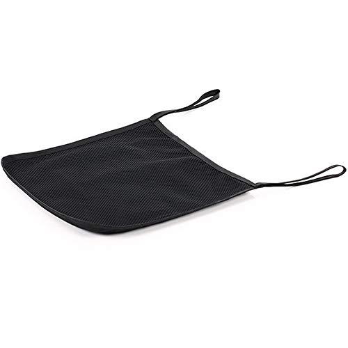 Fliyeong Bolsa de red para cochecitos de bebé, con soporte para tazas, 30 x 30 cm, color negro creativo y útil