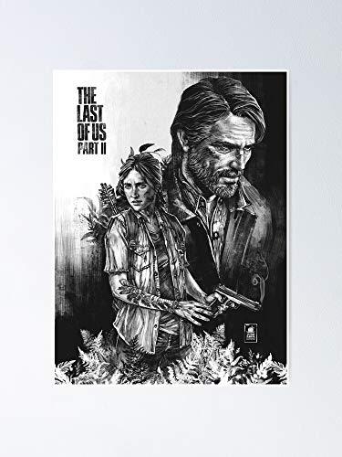 The Last of Us Part II - Póster de Ellie and Joel para oficina, decoración de colegios, teachers, Classroom, gimnasio y escuela, Halloween, Holiday, Navidad Great Inspirational Wall Art - Póster