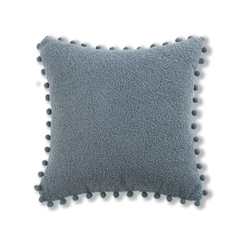 LYRRHT Almohada Funda De Almohada De Felpa CojíN De Sofá Almohada Cuadrada Azul para Dormitorio Y Sala De Estar NúCleo De Almohada Azul 17.71 in*17.71 in