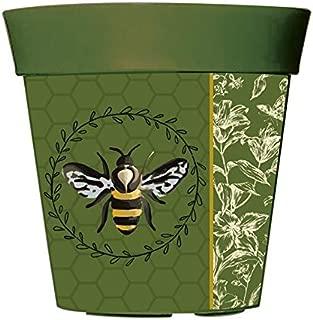 Evergreen Garden Bee Botanical 10 inch Hum Flower Pot