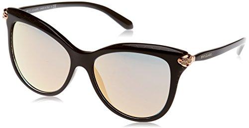 Bulgari 0BV8188B 54294Z 57 Gafas de sol, Negro (Black Metal Scale/Greymirrorrosegold), Unisex-Adulto